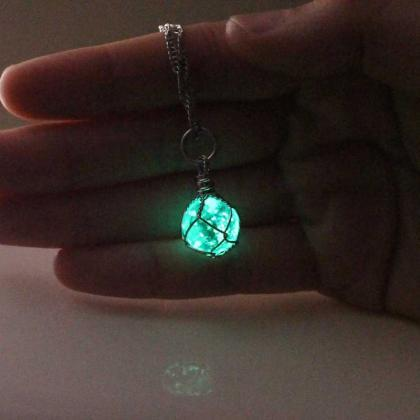 Free Shipping Turquoise Glowing Nec..