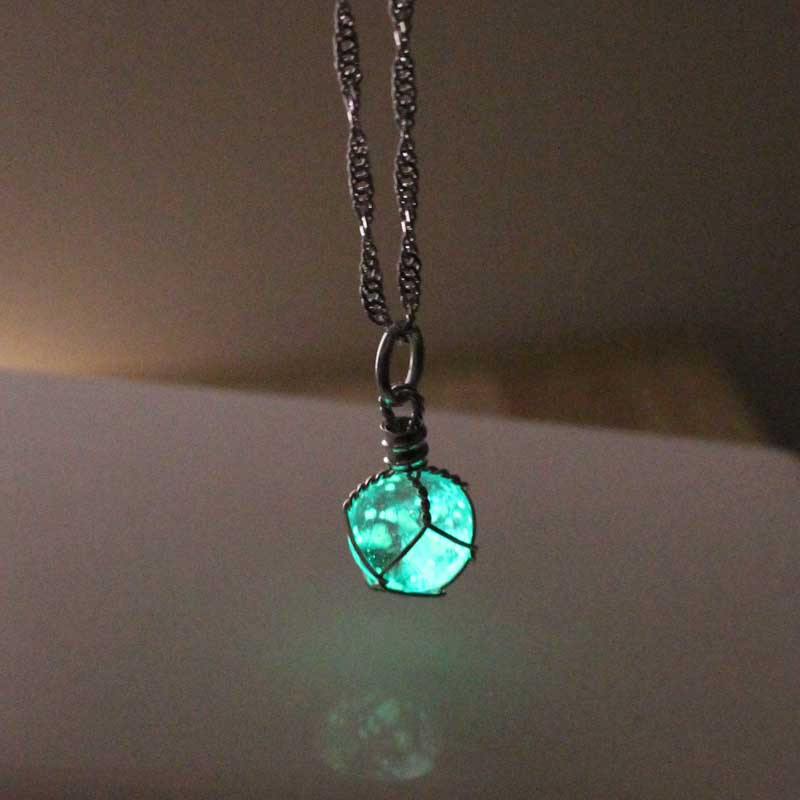 Free Shipping Turquoise Glowing Necklace, Birthday Gift, Gifts For Him,Gifts For Her