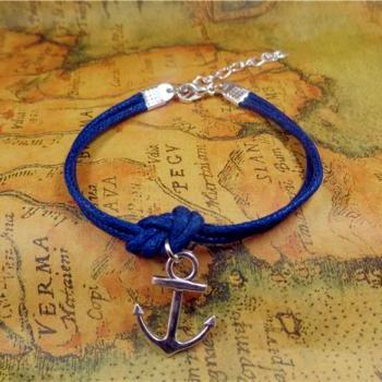 Anchor Bracelet, Nautical Bracelet, Navy Boyfriend Bracelet, Birthday Gift, Christmas Gift
